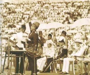 Tunku Abdul Rahaman in action..