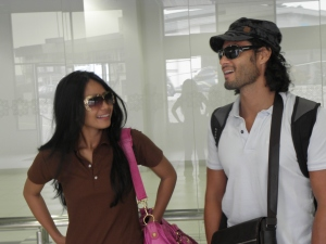 Umi Nazira and Stephen Rahaman in action..