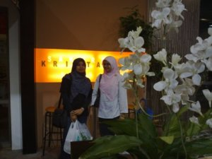 in front the Sakura Kristal Kafe