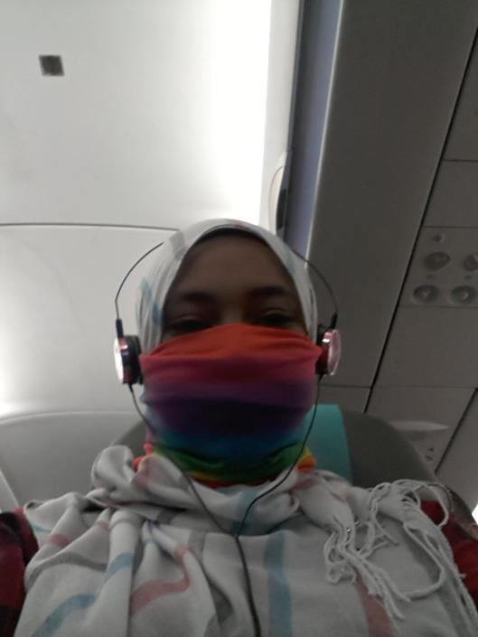 Saya yang sakit hidung sebab aircord kuat sangat. Terpaksa pakai buff..